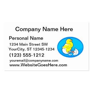 polluelos amarillos oval.png azul de la trama plantillas de tarjeta de negocio