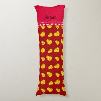 Polluelos amarillos rojos conocidos personalizados cojin cama