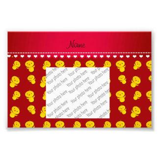 Polluelos amarillos rojos conocidos personalizados cojinete