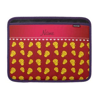 Polluelos amarillos rojos conocidos personalizados fundas para macbook air