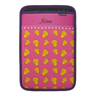 Polluelos amarillos rosados conocidos fundas para macbook air
