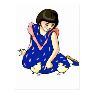 polluelos azules del bebé del vestido dos del chic postales