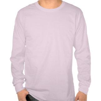 Polluelos de la manga larga 3X de Burbs rosa clara T-shirts
