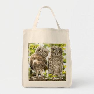 Polluelos de los búhos de chillido bolsa tela para la compra