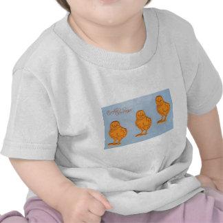 Polluelos de los saludos de Pascua azules Camiseta