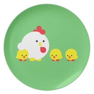 Polluelos de n del polluelo ' platos