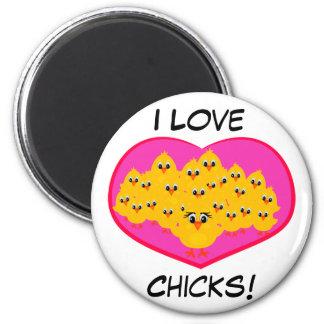 ¡Polluelos del amor! Imanes Para Frigoríficos