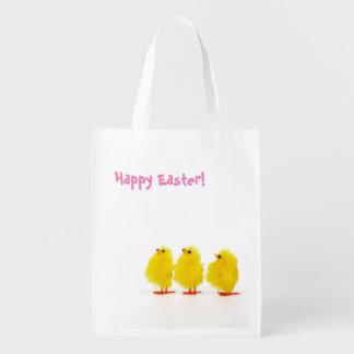 """Polluelos del bebé de """"Pascua feliz"""" Bolsa Reutilizable"""