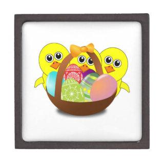 Polluelos del bebé y huevos de Pascua Caja De Recuerdo De Calidad