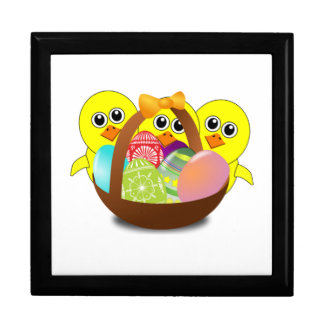 Polluelos del bebé y huevos de Pascua Caja De Regalo