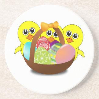 Polluelos del bebé y huevos de Pascua Posavasos Manualidades