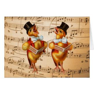 Polluelos del canto felicitación