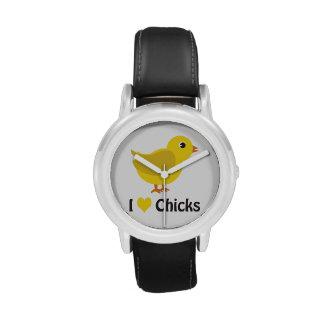 ¡Polluelos del corazón I (amor)! Relojes