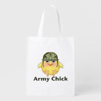 Polluelos del ejército bolsas de la compra