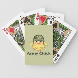 Polluelos del ejército baraja de cartas