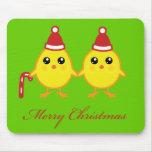 Polluelos del navidad alfombrillas de raton
