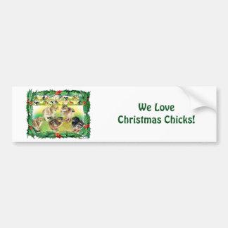 Polluelos del navidad etiqueta de parachoque