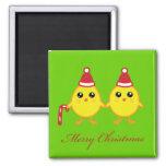Polluelos del navidad imán de frigorífico