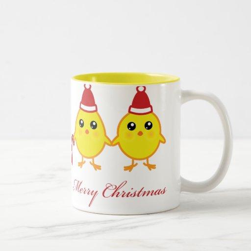 Polluelos del navidad taza