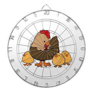 Polluelos del pollo y del bebé del dibujo animado