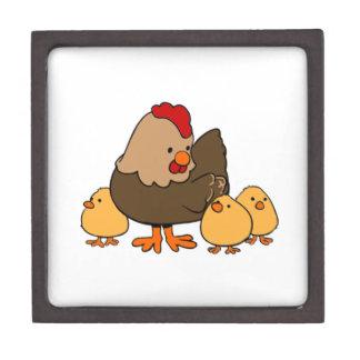 Polluelos del pollo y del bebé del dibujo animado cajas de regalo de calidad