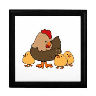 Polluelos del pollo y del bebé del dibujo animado cajas de regalo