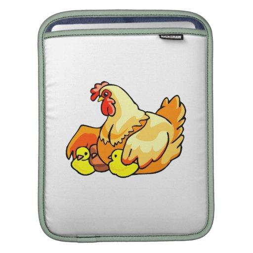 polluelos del sideview dos de la gallina mangas de iPad