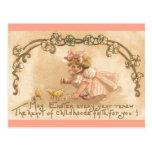 Polluelos del vestido del rosa del chica de Pascua