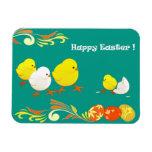 Polluelos divertidos de Pascua. Imán del regalo de