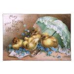 Polluelos encantadores de Pascua Manteles