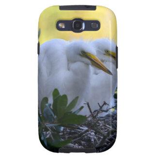 Polluelos jovenes del Egret Samsung Galaxy SIII Funda