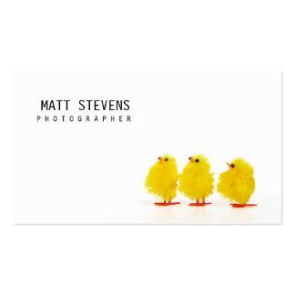Polluelos lindos de la tarjeta de visita del