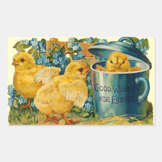 Polluelos lindos de Pascua del vintage Rectangular Altavoces