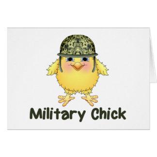Polluelos militares tarjeta de felicitación