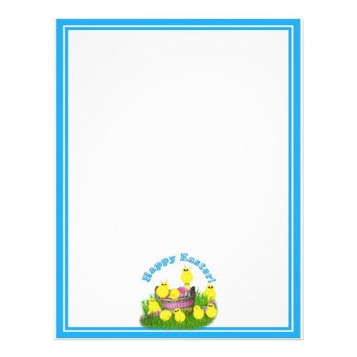 Polluelos 'n un texto de la cesta w/Blue Tarjeta Publicitaria