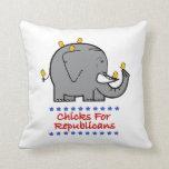 polluelos para los republicanos cojin