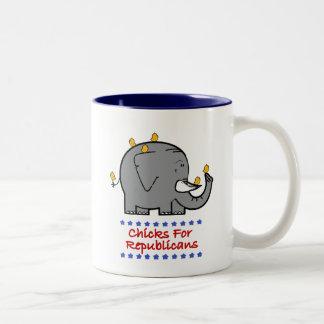 polluelos para los republicanos tazas de café