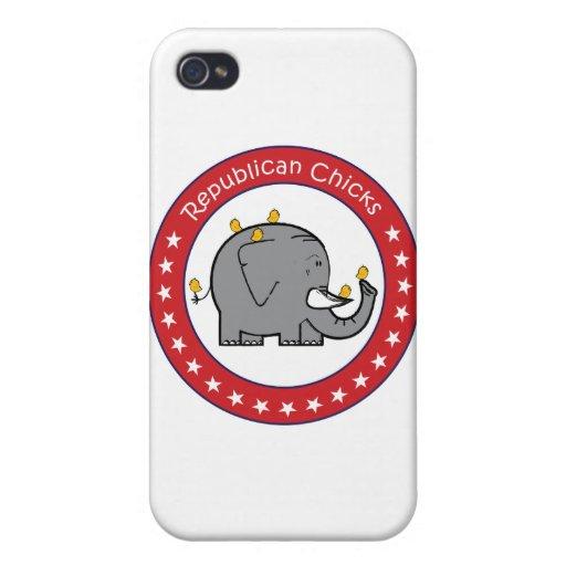 polluelos republicanos iPhone 4/4S carcasa