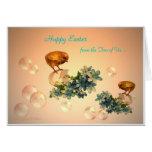 Polluelos y burbujas felices de Pascua Felicitación