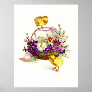 Polluelos y huevos de Pascua Impresiones