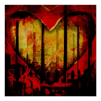 Polluted Heart Perfect Poster (Global Warming Art)