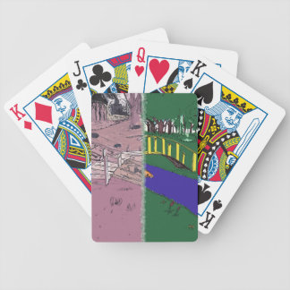 Polluted Versus Healthy Environmental Opposites Bicycle Playing Cards