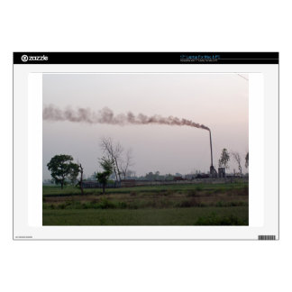Pollution and global warming laptop skins