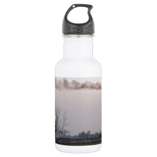 Pollution and global warming water bottle