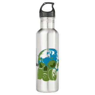 Pollution Blows Water Bottle