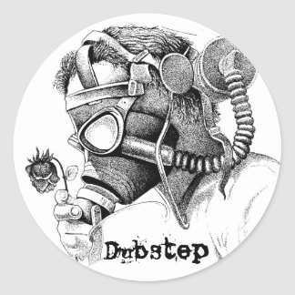Pollution, DubStep Classic Round Sticker