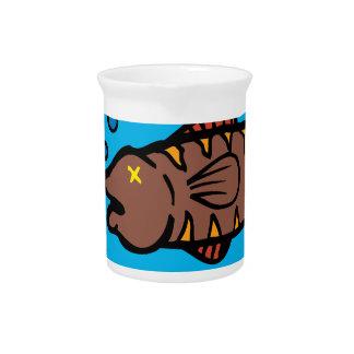 Pollution fish drink pitcher