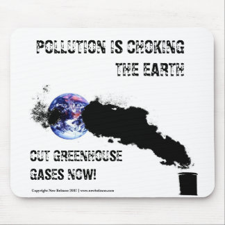 Pollution is choking the earth - Mousemat Customi Mouse Pad