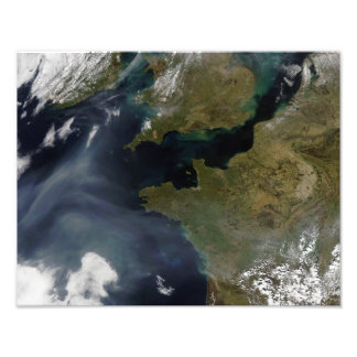 Pollution off France Photo Print
