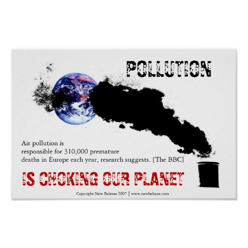 Air Pollution Posters   Zazzle